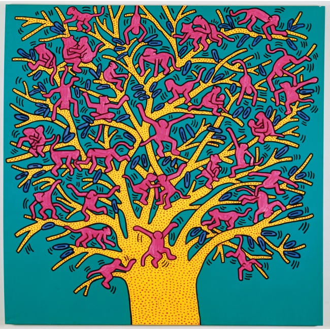 The Tree of Monkeys, 1984, Courtesy Fondazione Orsi, © Keith Haring Foundation