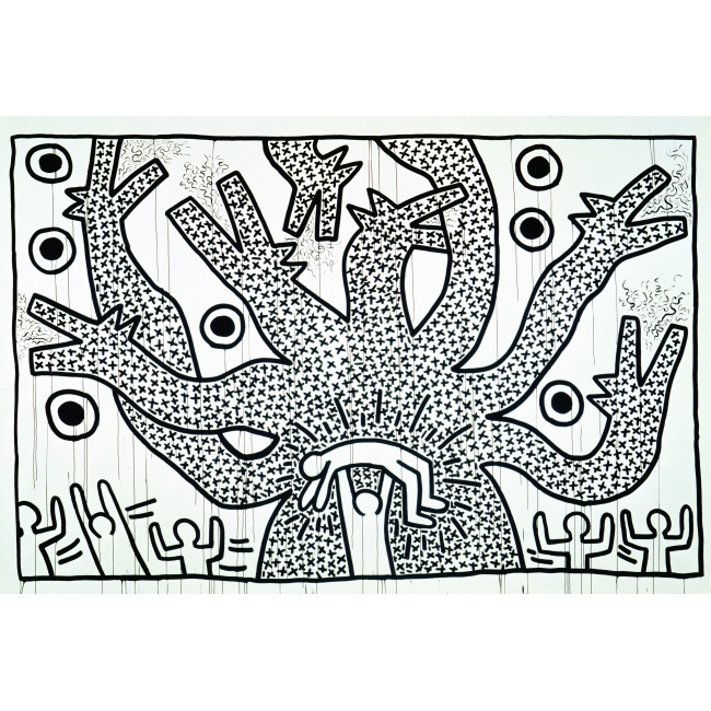 Untitled, 1982, Courtesy Keith Haring Foundation et Gladstone Gallery, New York et Bruxelles, © Keith Haring Foundation