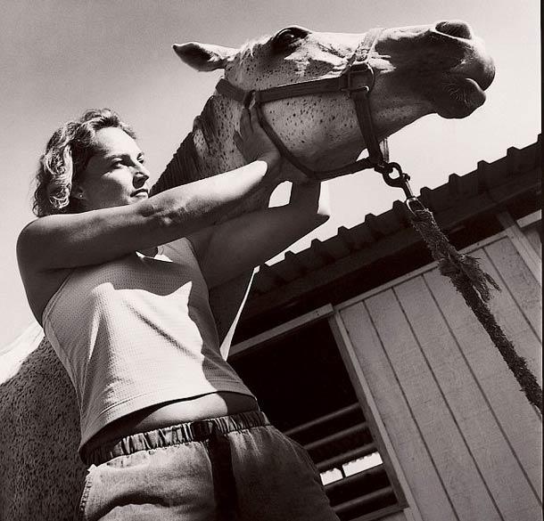 Masseur de chevaux © Nancy Rica Schiff. Tous les droits réservés.