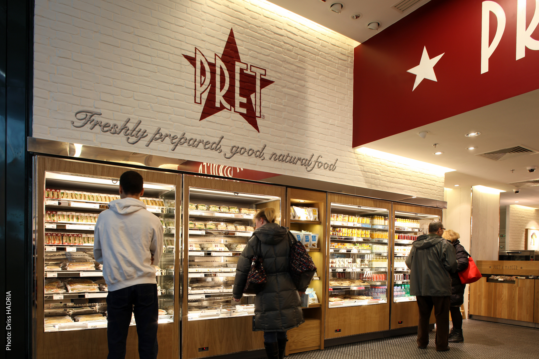 pret a manger Pret a manger opened the doors to its new shrewsbury store yesterday - becoming the second major chain to open in the town this week.