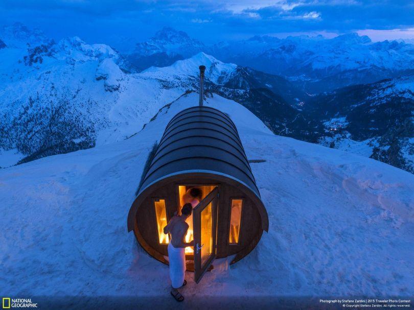 Sauna in the Sky © Stefano Zardini. Tous les droits réservés.