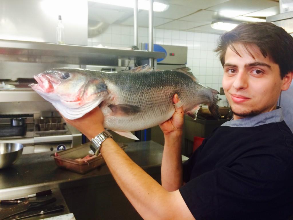 Le Chef Jean-Baptiste Ascione en cuisine