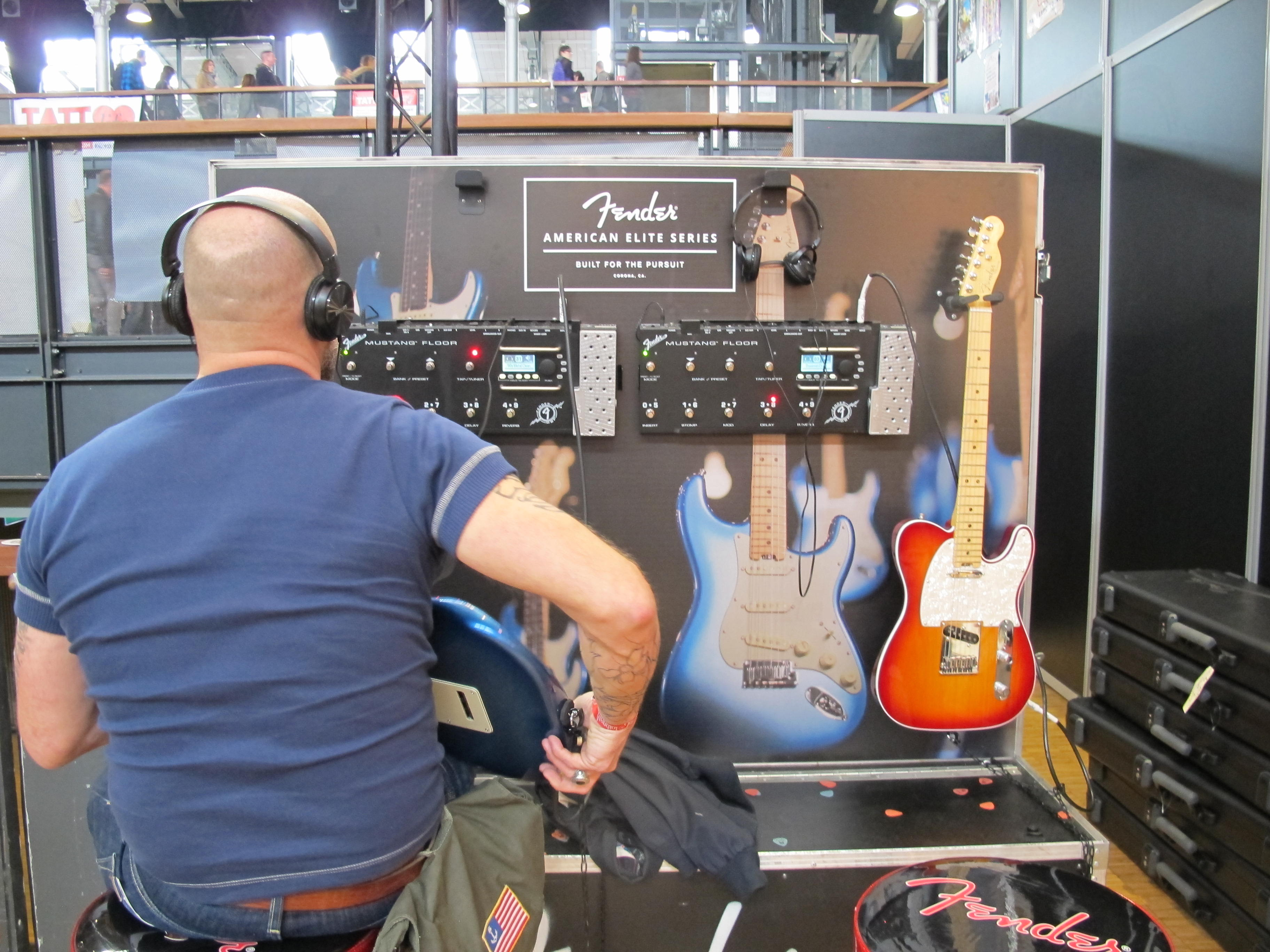 Stand d'essai Fender © Julie Albesa