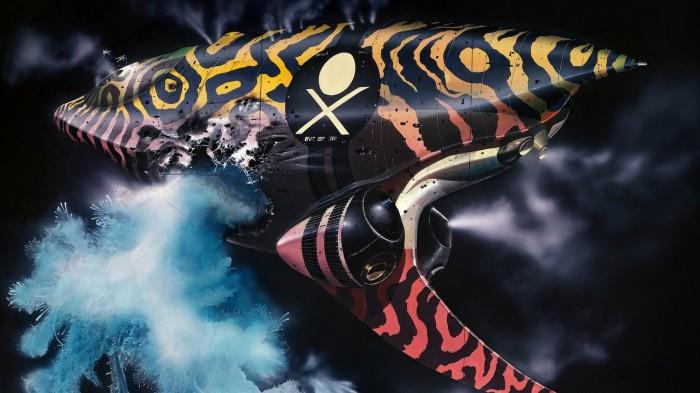 Dessin du vaisseau pirate par Chris Foss