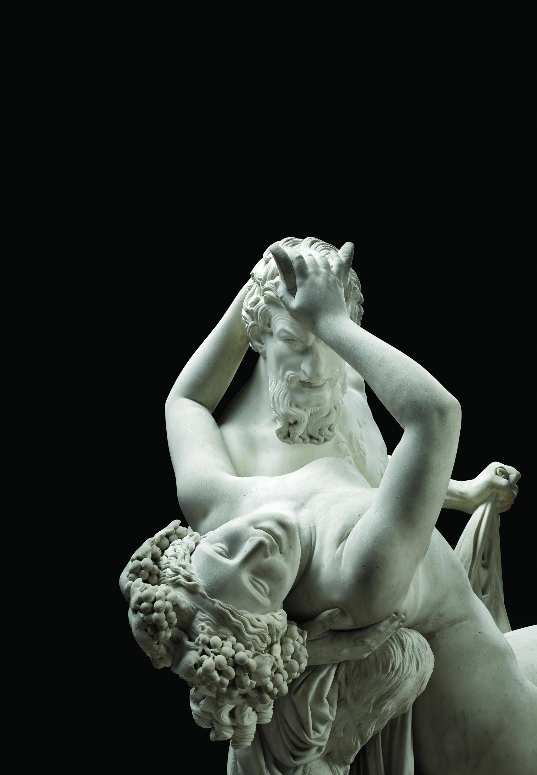 James Pradier , Satyre et Bacchante , 1834, marbre © Paris, musée du Louvre. Photo © RMN-Grand Palais (musée du Louvre)/René-Gabriel Ojéda