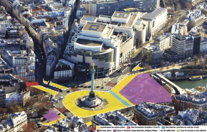 Place de la Bastille (4e, 11e, 12e)