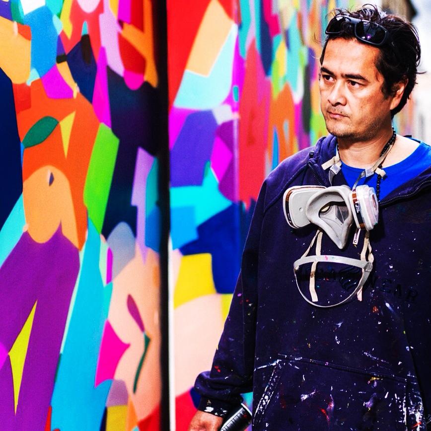 """Cyril Phan, alias Kongo """"Je peindrai la voile en direct devant le public pendant la régate». © DR"""
