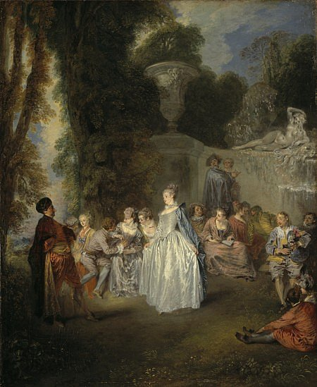 Jean Antoine Watteau Fêtes vénitiennes  1718 - 1719 Edimbourg, Scottish National Gallery - NG 439 © Photography National Galleries of Scotland, Edinburgh