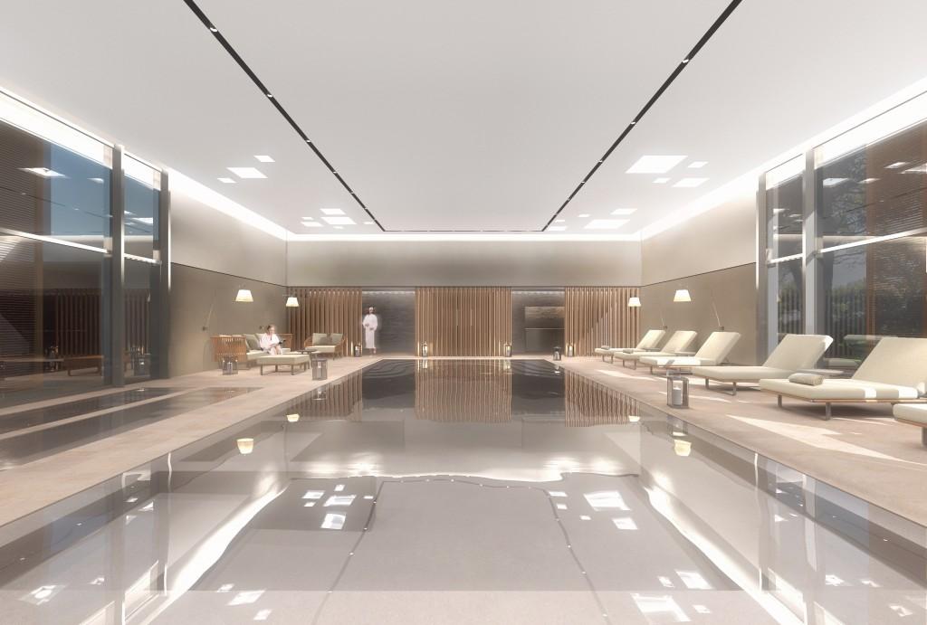 Vue piscine - SPA de l'Hôtel du Castellet
