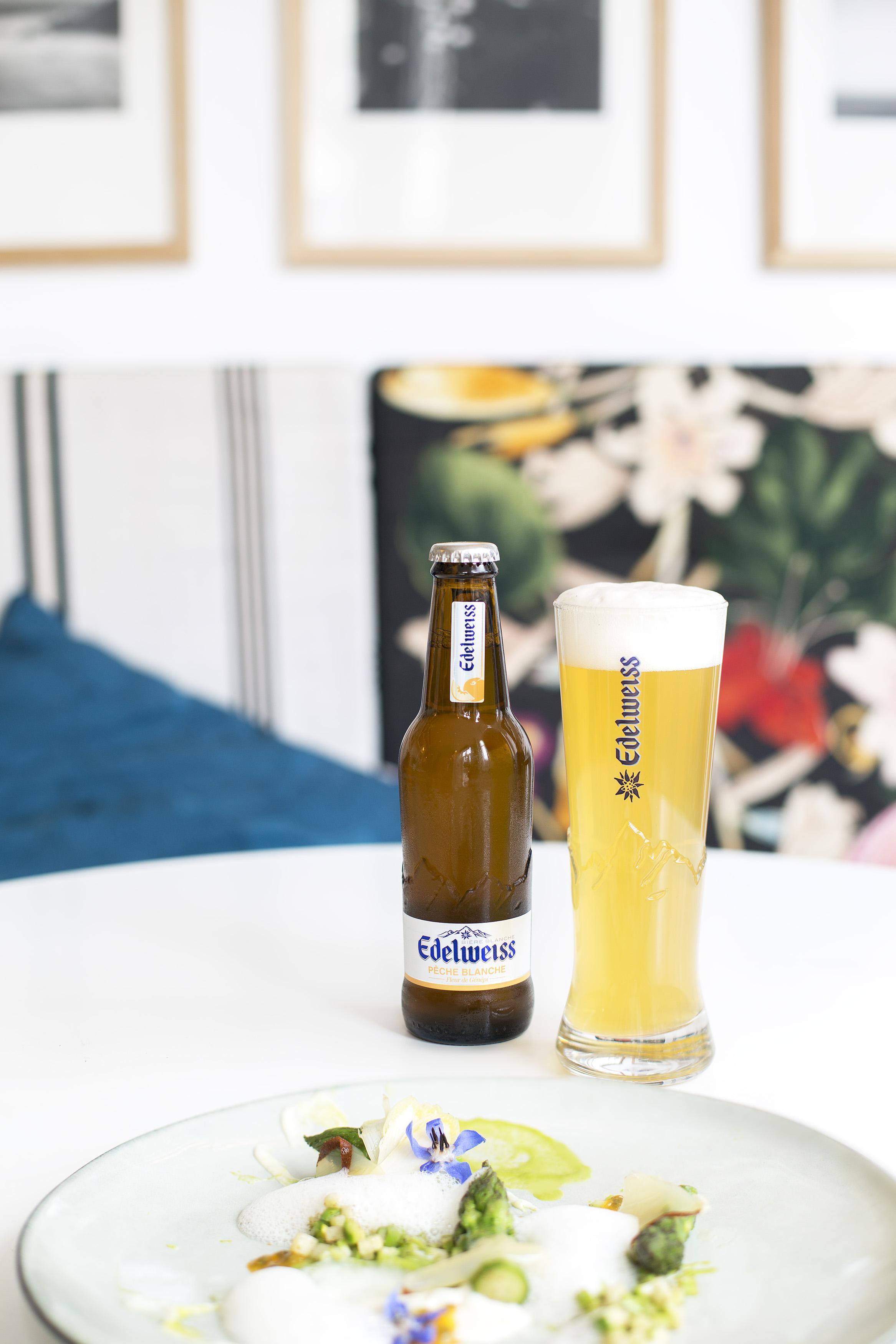 Peche Blanche Et Fleur De Genepi La Nouvelle Biere Edelweiss