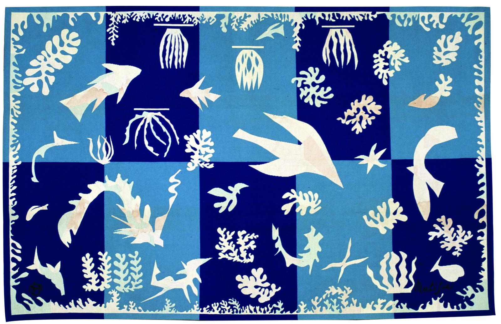 Henri Matisse Polynesie La Mer 1948 Tapisserie En Laine
