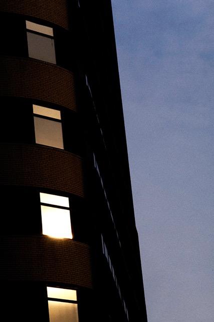 © Ralph Gibson, Vertical Horizon, Building Night