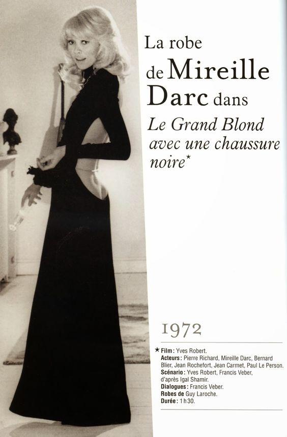 9e9a2068fdd Chute de reins renversante pour Mireille Darc en robe Guy Laroche