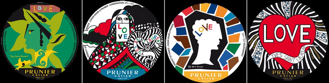 Le design varié du caviar LOVE. Crédits : Prunier