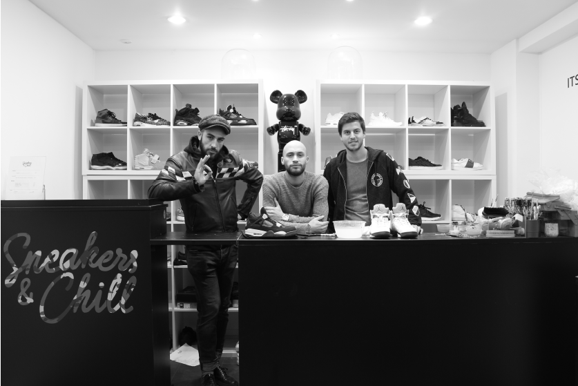 Les trois jeunes créateurs du concept © Sneakers & Chill