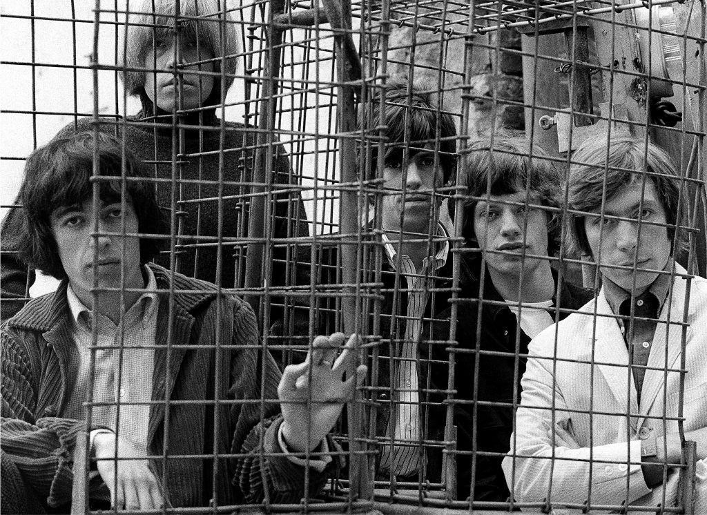 The Rolling Stones Caged Ormond Yard London 1965